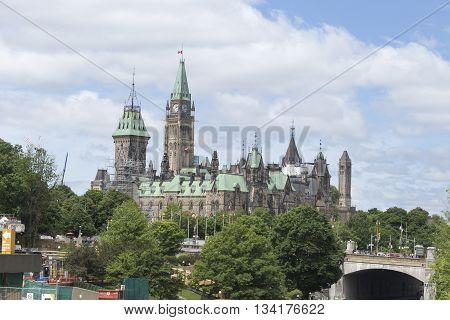 June 13, 2016 - Ottawa, Ontario - Canada - Canada's Parliament buildings
