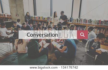 Talking Discuss Conversation Interactive Communication Concept