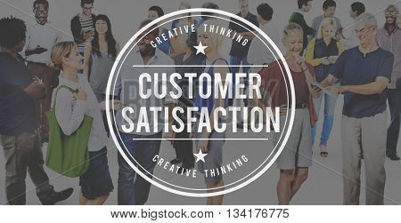 Customer Satisfaction Service Business Marketing Strategy Concept