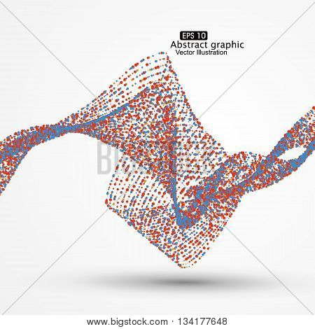 Colorful dots abstract graphics,Technological sense vector illustration.