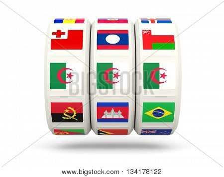 Slots With Flag Of Algeria