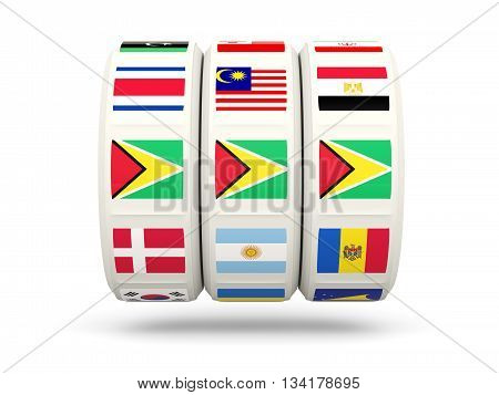 Slots With Flag Of Guyana
