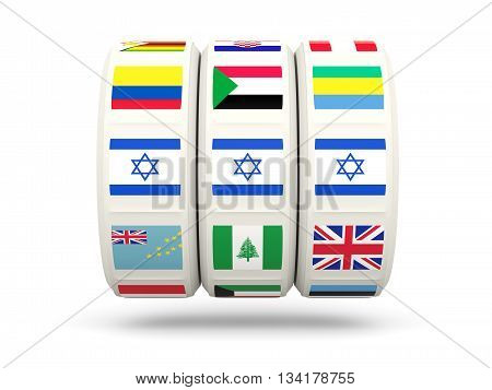 Slots With Flag Of Israel