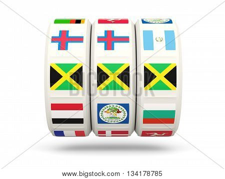Slots With Flag Of Jamaica