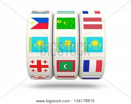Slots With Flag Of Kazakhstan