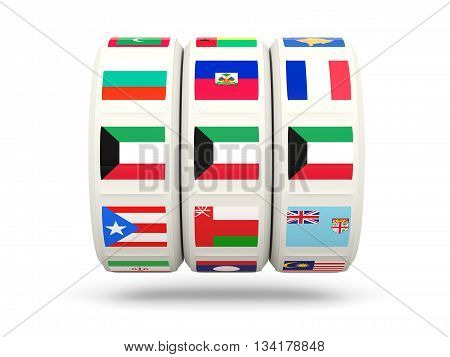 Slots With Flag Of Kuwait