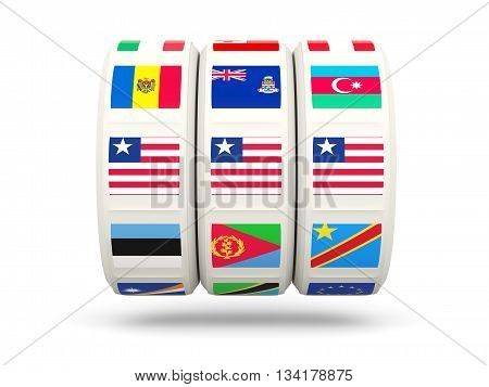 Slots With Flag Of Liberia