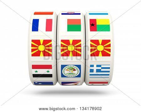 Slots With Flag Of Macedonia