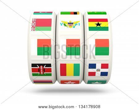 Slots With Flag Of Madagascar