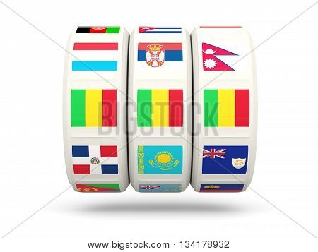 Slots With Flag Of Mali
