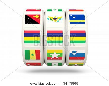 Slots With Flag Of Mauritius