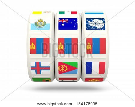 Slots With Flag Of Mongolia