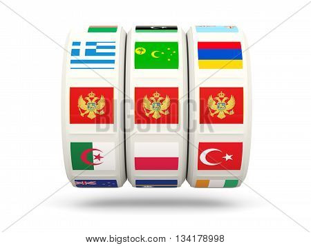 Slots With Flag Of Montenegro