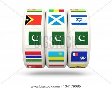 Slots With Flag Of Pakistan