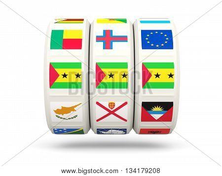 Slots With Flag Of Sao Tome And Principe