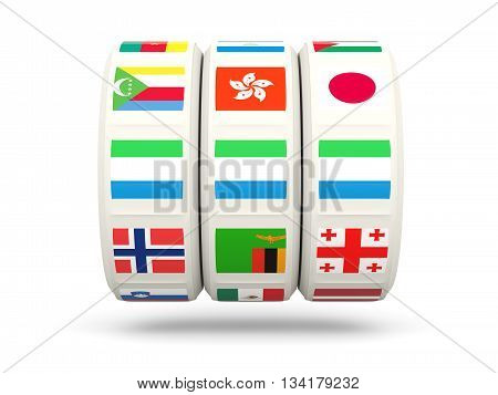 Slots With Flag Of Sierra Leone