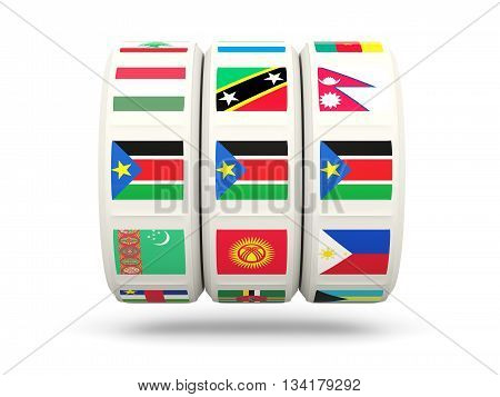 Slots With Flag Of South Sudan