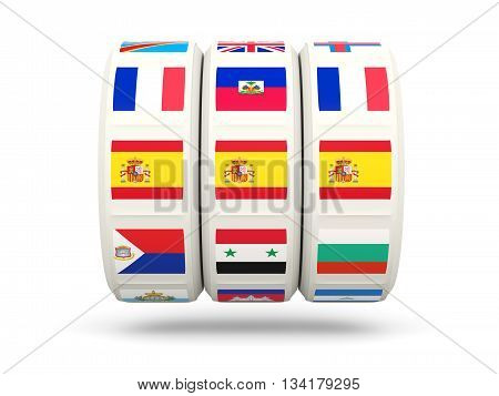 Slots With Flag Of Spain