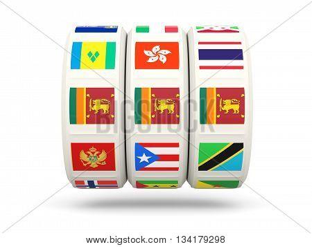 Slots With Flag Of Sri Lanka