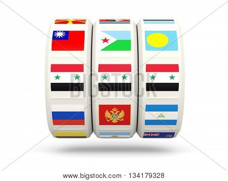 Slots With Flag Of Syria