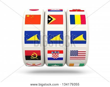 Slots With Flag Of Tokelau