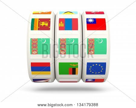 Slots With Flag Of Turkmenistan