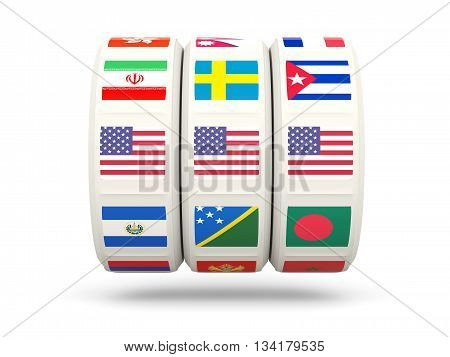 Slots With Flag Of United States Of America