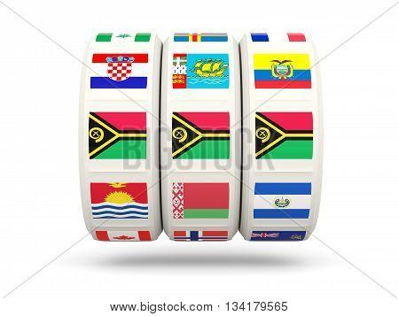 Slots With Flag Of Vanuatu