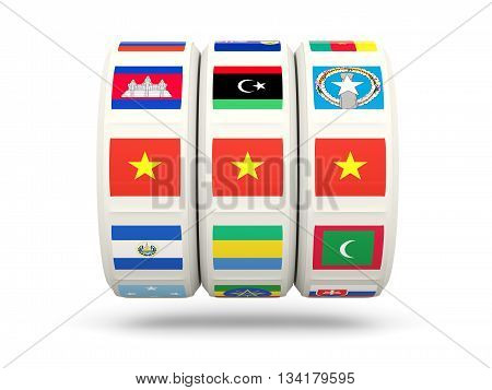 Slots With Flag Of Vietnam