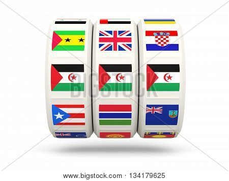 Slots With Flag Of Western Sahara