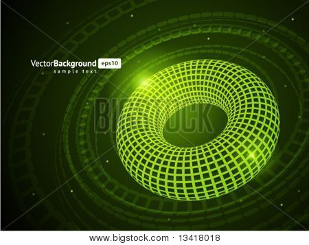 3D tel simit vektör arka plan