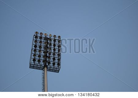 Stadium Lights in front of sky for background