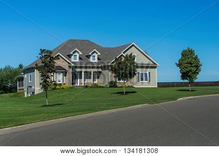 Modern home in a new subdivision.