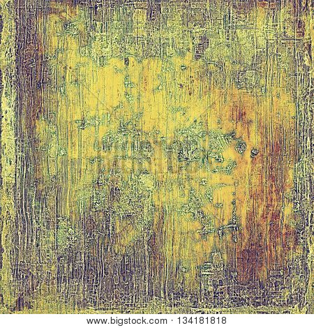 Old, grunge background or damaged texture in retro style. With different color patterns: yellow (beige); brown; green; gray; purple (violet); pink