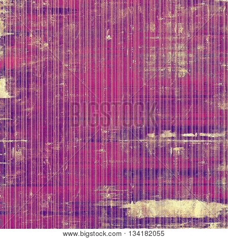 Stylish grunge texture, old damaged background. With different color patterns: yellow (beige); brown; purple (violet); pink