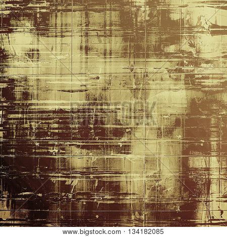 Vintage old-style texture, worn and rough grunge background with different color patterns: yellow (beige); brown; gray; black