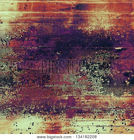 Abstract colorful background or backdrop with grunge texture and different color patterns: yellow (beige); brown; red (orange); purple (violet); pink