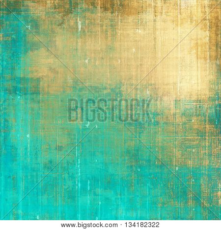 Decorative vintage texture or creative grunge background with different color patterns: yellow (beige); brown; green; blue; cyan