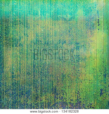 Grunge design composition over ancient vintage texture. Creative background with different color patterns: brown; green; blue; purple (violet); cyan