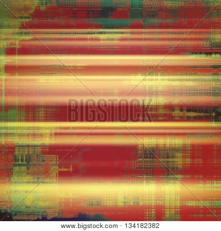 Abstract colorful background or backdrop with grunge texture and different color patterns: yellow (beige); brown; green; red (orange); pink