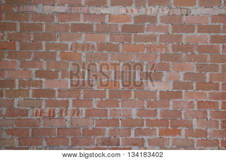 Background of old vintage brick wall. Color brown