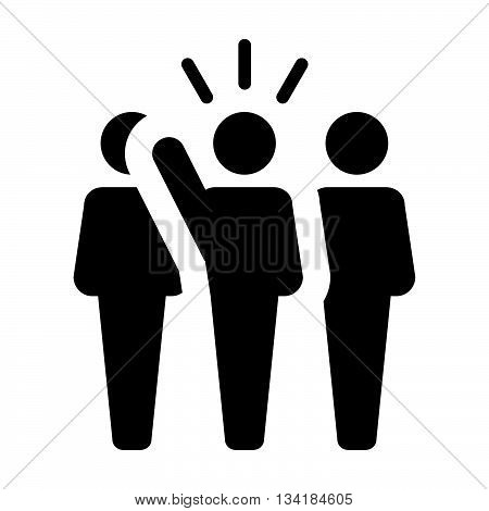 Leader Icon - Leadership, Boss, Politician, Management, Lead Icon in Glyph Vector illustration