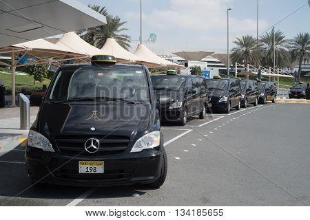 ABU DHABI - FEBRUARY 13: Abu Dhabi International Airport . February 13 2016 in Abu Dhabi United Arab Emirates