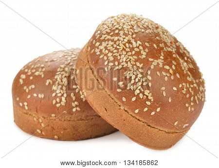 Bun for burger isolated on white background
