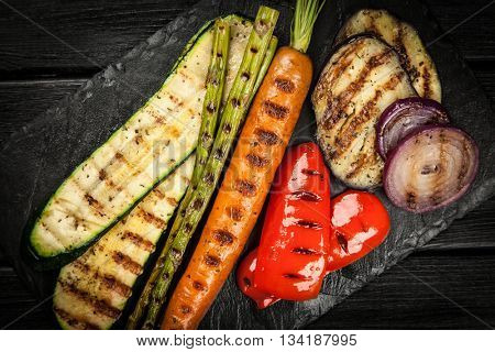 Assortment of grilled vegetables