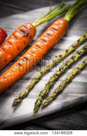 Assortment of grilled vegetables