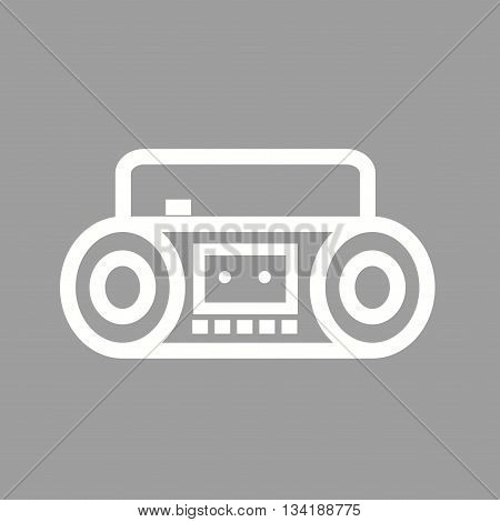 Music, casette, sound icon vector image. Can also be used for music. Suitable for web apps, mobile apps and print media.
