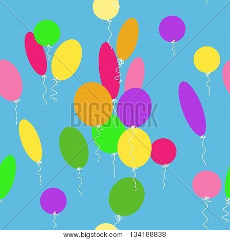Seamless texture with a cute different balloons