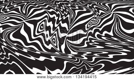 Optical Art Background Op Art Balck And White