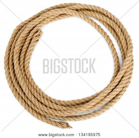 Rope loop isolated on white background, closeup